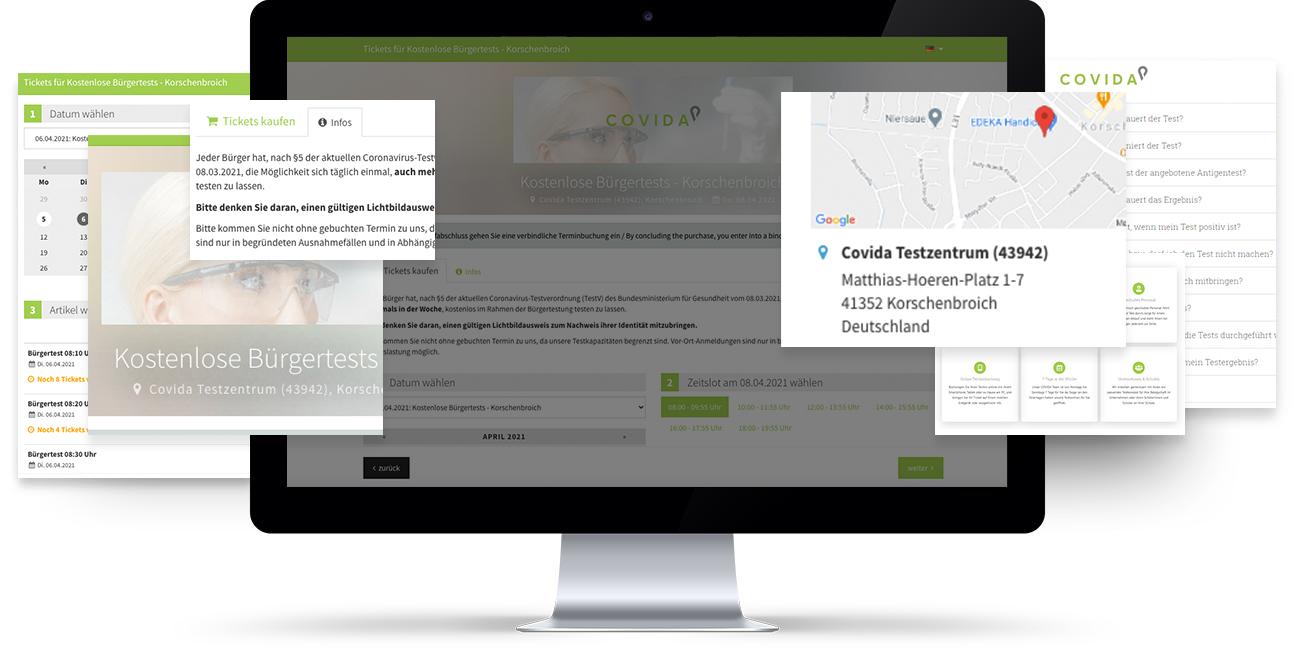 Kostenloser Bürgertest COVIDA Testzentrum